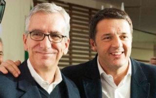 Il presidente della Giunta regionale Francesco Pigliaru e il presidente del Consiglio Matteo Renzi.